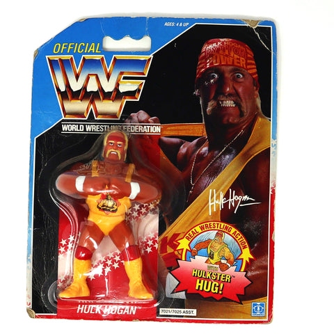 Vintage 1991 90s Hasbro WWF Wrestling Series 2 Hulk Hogan With Hulkster Hug! Action Figure MOC Carded UK