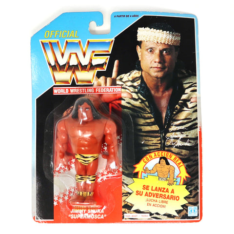 Vintage 1991 90s Hasbro WWF Wrestling Series 2 Jimmy Snuka With Superfly Slam! Action Figure Carded MOC Rare Spanish