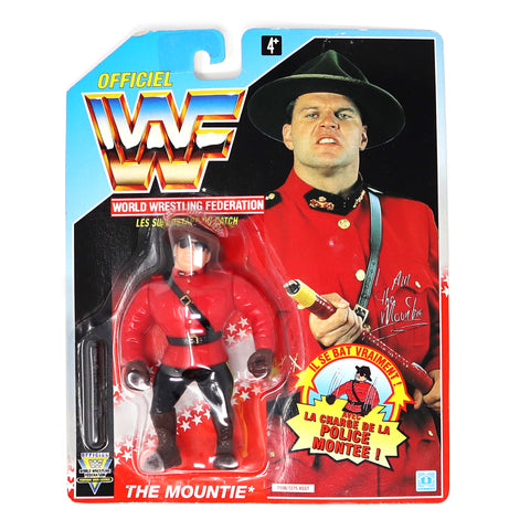 Vintage 1992 90s Hasbro WWF Wrestling Series 5 The Mountie Action Figure Carded MOC French Rare