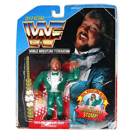 Vintage 1990 90s Hasbro WWF Wrestling Series 2 Million Dollar Man Ted DiBiase Action Figure Carded MOC