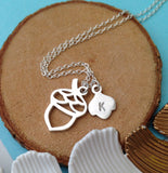Acorn Necklace With Initial - a ring a day