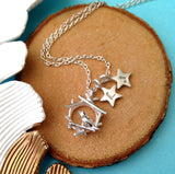 personalised robin necklace