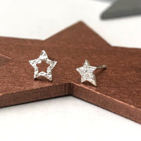mini rock star earrings