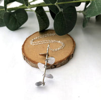 Eucalyptus Stem Necklace, Leaves Necklace - a ring a day