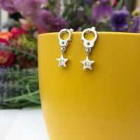Partner In Crime With Initial Star Earrings