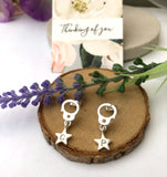 Handcuff With Initial Star Earrings - a ring a day