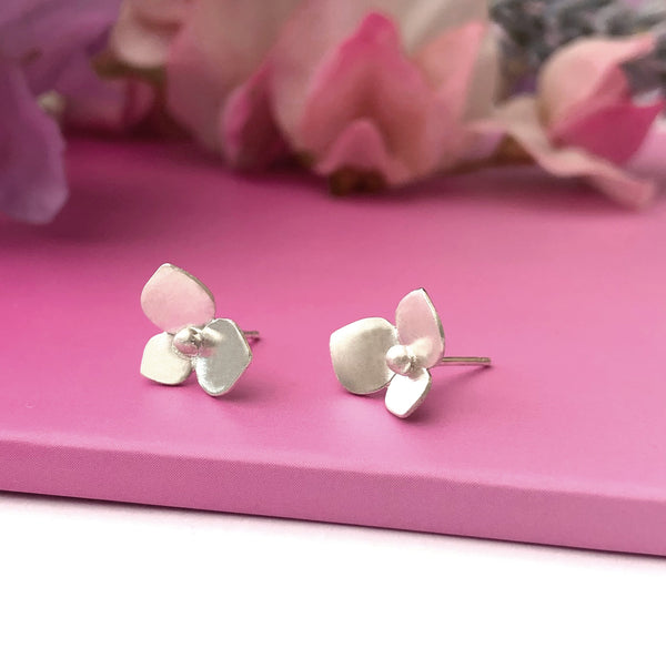 Hydrangea Flower Earrings - a ring a day