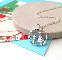 Magical Wonderland Necklace, Christmas Necklace - a ring a day