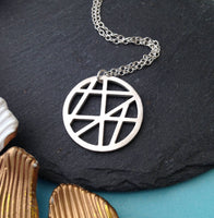 Geometric Full Moon Necklace - a ring a day