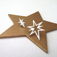 Mismatched Northern Star Earrings - a ring a day