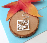 sterling silver autumn charm