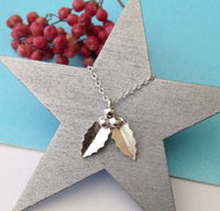 sterling silver holly necklace