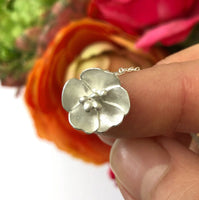 Sterling Silver Buttercup Flower Necklace
