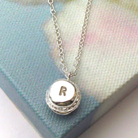 Macaroon Necklace With Initial - a ring a day