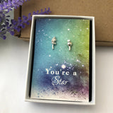 Botanical earrings with gift card