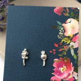 Lavender and Poppy Seed Head Earrings