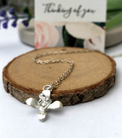 mini lily necklace
