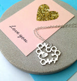 Love Chemistry Necklace With Initial Heart - a ring a day