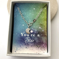 moon bracelet with gift card