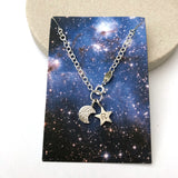 half moon and initial star bracelet