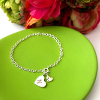 Mother And Child Initial Heart Bracelet - a ring a day