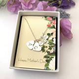 Mother And Child Initial Heart Necklace - a ring a day
