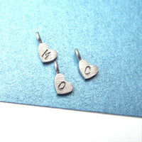 Small Initial Heart Charm