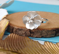 sterling silver buttercup ring