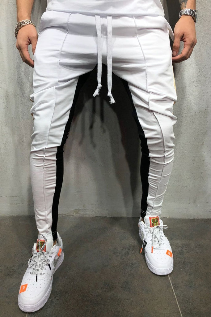 Behype. Jogginghose Colour-Block RR-5061 Weiß