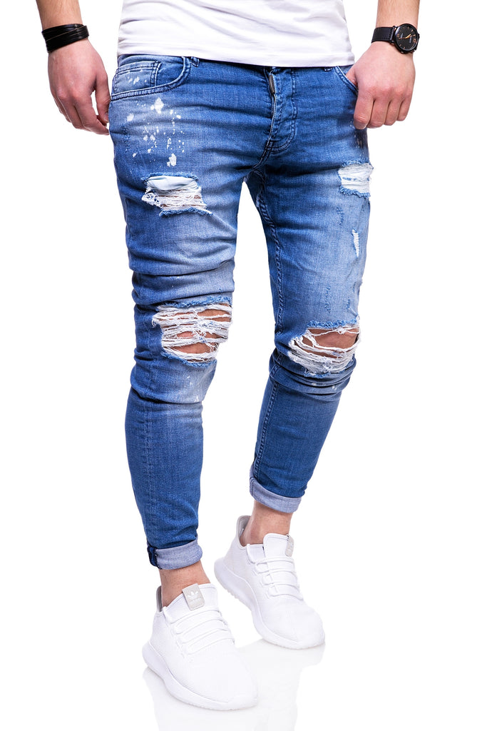 Behype. Destroyed Jeans Blau JN-3296