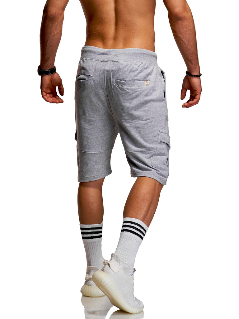 Behype. Sweat-Shorts Cargo | ANTONIO Grau