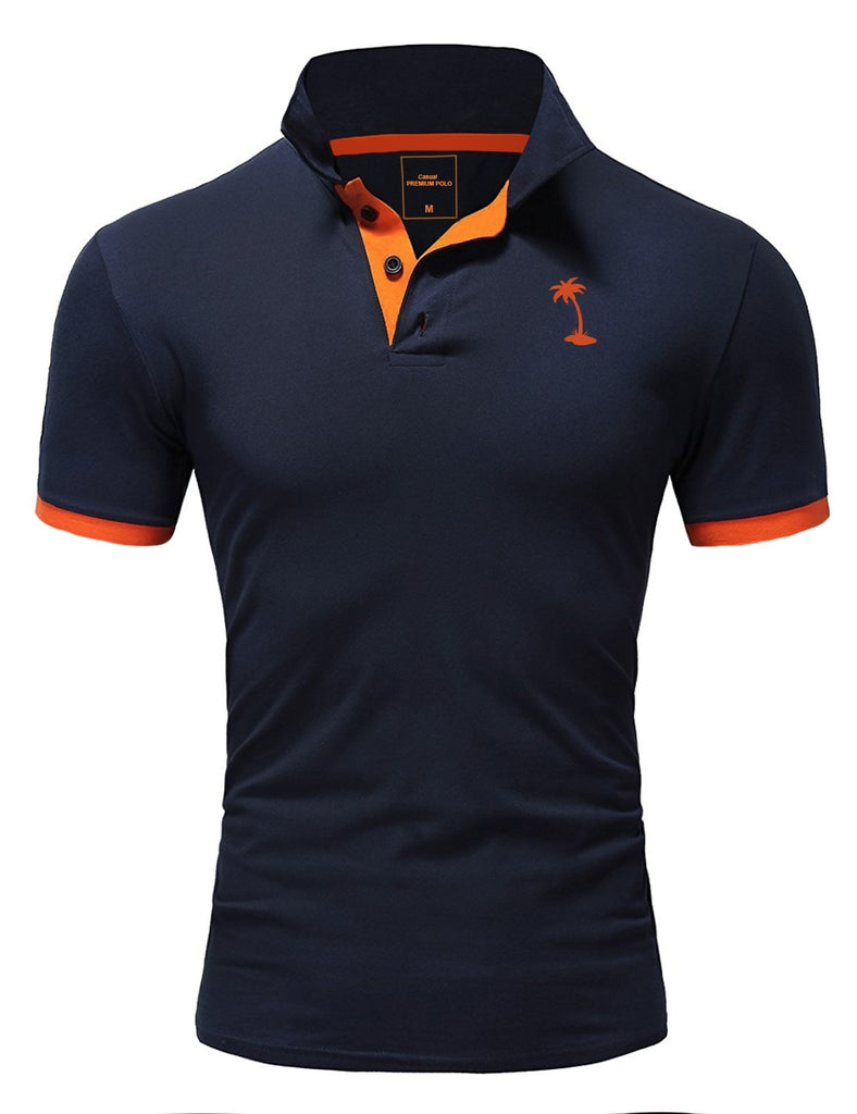 Behype. Polo Kontrast Navy MP-337
