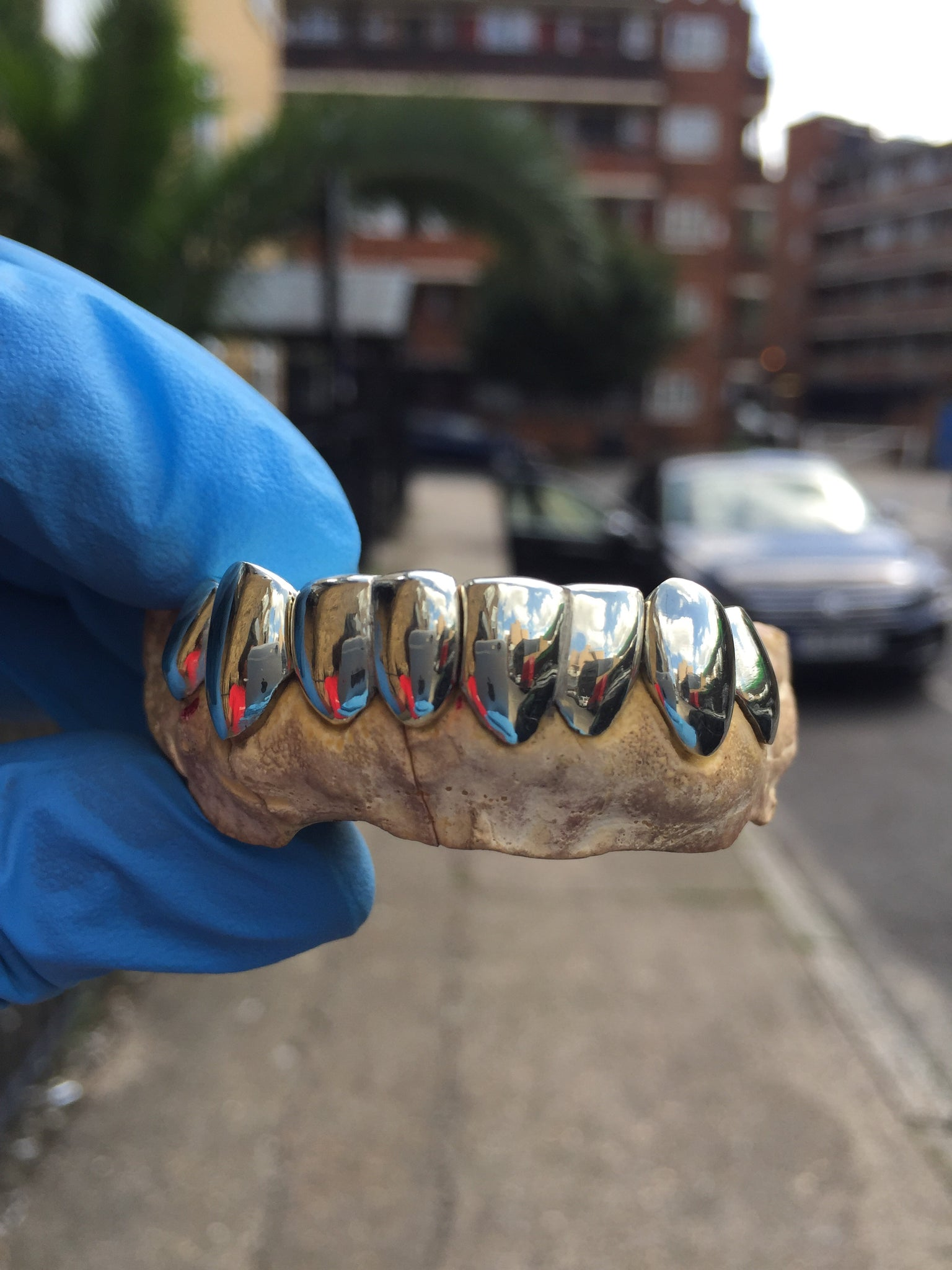 White Gold Grill Set