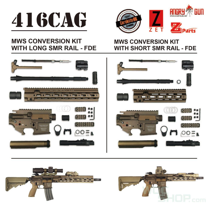Angry Gun 416D MWS Conversion Kit With 14.5 Inches SMR Rail