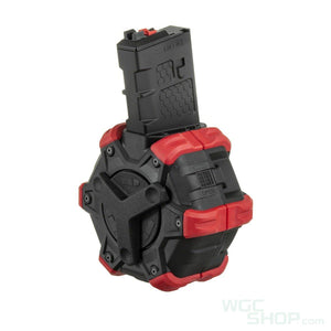 Armoreworks Custom M4 GBB Drum Mag ( Red / Black )