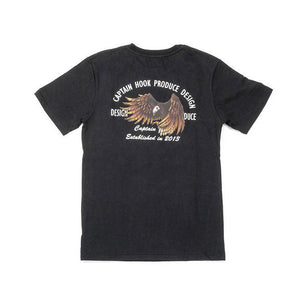 CPTN HOOK Eagle Tee ( Black )-WGCShop