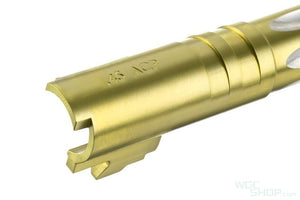 UAC Stainless Steel Fluted Outer Barrel .45 ACP for Marui Hi-Cap 4.3 Gas Pistol ( Gold )
