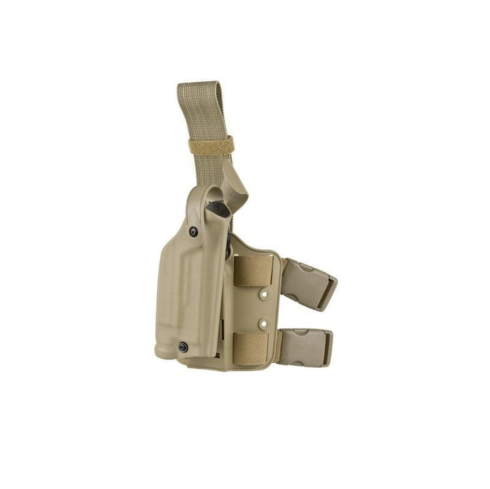 Safariland 6004 SLS Tactical Holster - G17 / 22 w/ Surefire X200 ( STX FDE Brown, Right )