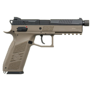 KJ Works CZ P-09 CO2 Blowback Pistol - Tan ( Thread Barrel with Cap )-WGCShop