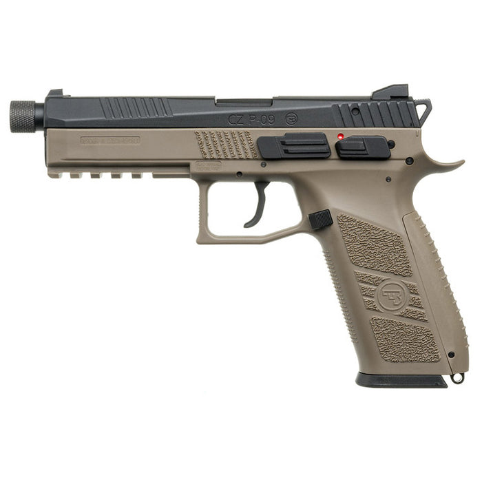 KJ Works CZ P-09 CO2 Blowback Pistol - Tan ( Thread Barrel with Cap )
