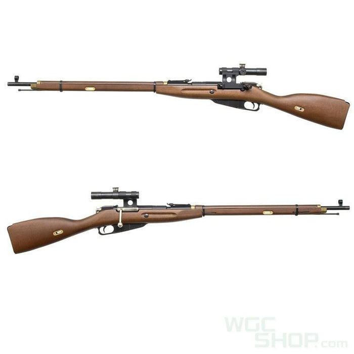 PPS Real Wood Mosin Nagant M1891/30 Spring Bolt Action Rifle with Scope