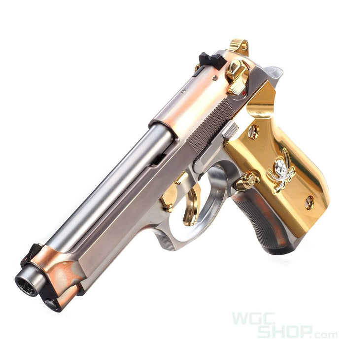 WE M9 New Skull GBB Pistol ( Silver )