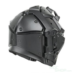 Wosport Helmet With NVG Shroud and Transfer Base ( Black Mirror Glasses )