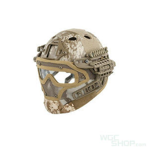 Wosport Tactical Helmet with Steel Mesh Mask