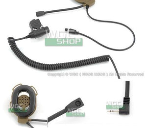 Cavalvy Elite II Tactical Headset with PTT for Motorola Talkabout