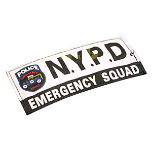 Guarder 14.5 x 6.5cm Patch ( NYPD, White )-WGCShop