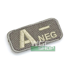 Mil-Spec Monkey Patch - Blood Type A- ( ACU Light )