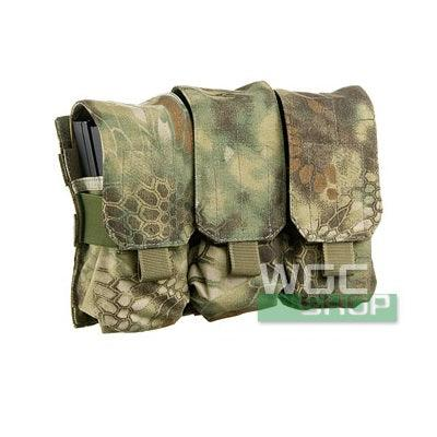 SWAT Molle System Triple Magazine Pocuh for M4 / M16 type Airsoft Magazine ( Kryptek Mandrake )