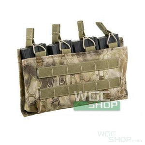 SWAT Molle System Open-Top Quad M4 / M16 Airsoft Mag Pouch ( Kryptek Highlander )
