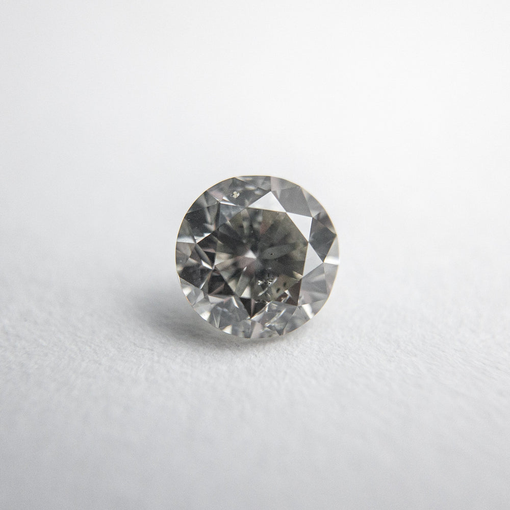 Load image into Gallery viewer, 0.46ct 4.81x4.74x3.09mm Fancy Grey Round Brilliant 18273-07
